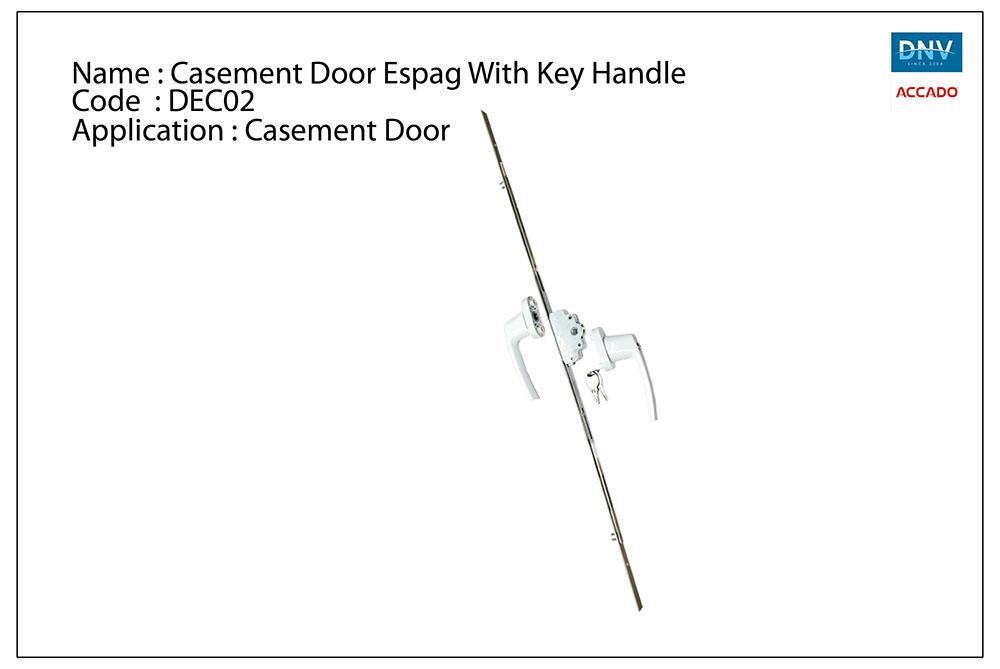 Casement Door Espag With Key Handle