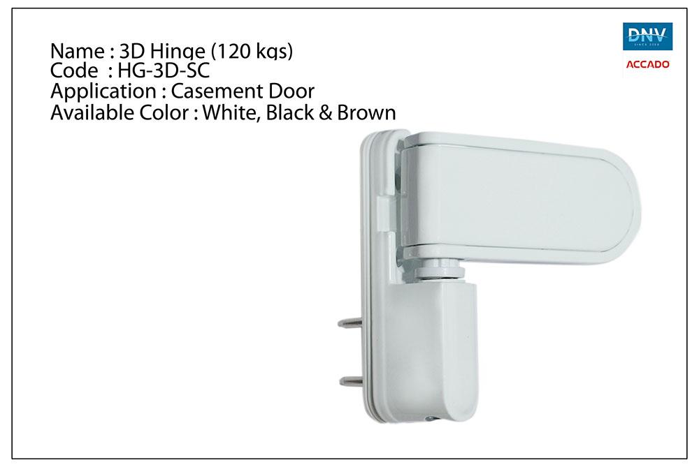 3D Hinge (120 Kgs)