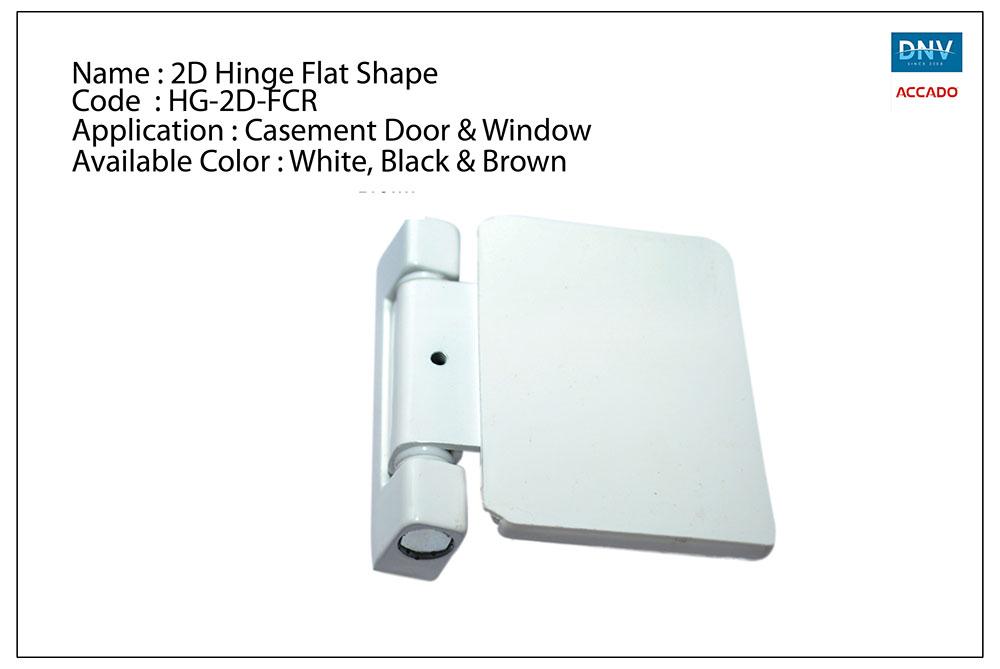 2D Hinge Flat Shape