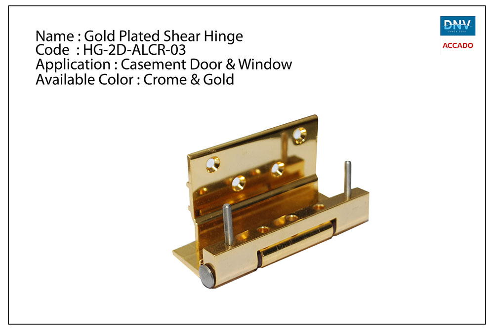 Gold Plated Shear Hinge