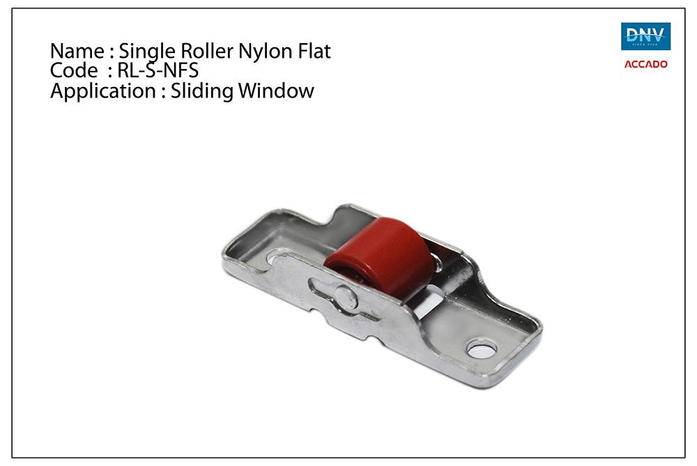 Single Roller Nylon Flat