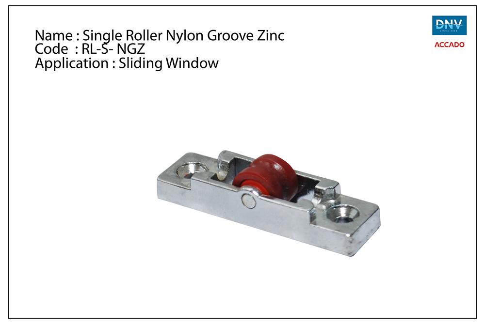 Single Roller Nylon Groove Zinc