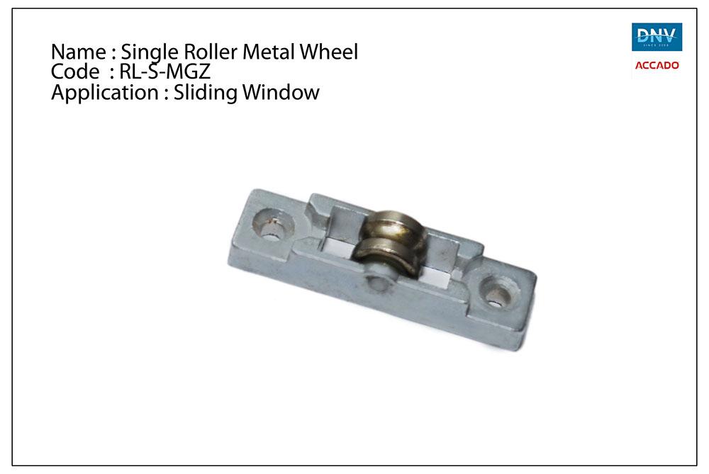 Single Roller Metal Wheel