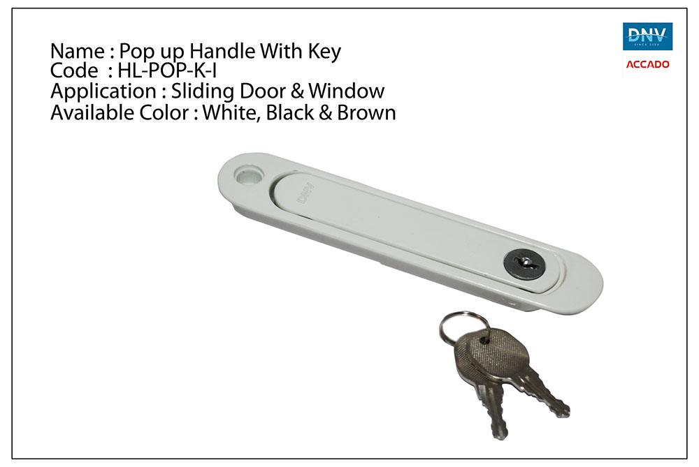 Pop up Handle with Key